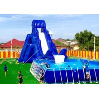 Wholesale Double Stitching Custom Inflatable Water Slide For Pool / Backyard Wet And Dry Slide from china suppliers