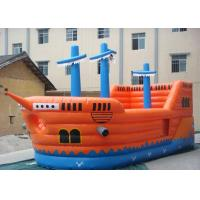 Wholesale PVC tarpaulin Commercial Grade Inflatable Pirate Ship Slide With Jumping Bouncer Area from china suppliers