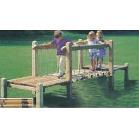 Wholesale Outdoor wooden playground equipment for kids,wooden playground bridge from china suppliers