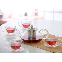 Wholesale Elegant Hand Made Glass Tea Pot Set With Stainless Steel Infuser And 5pcs Glass Tea Cups from china suppliers