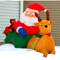 Wholesale Santa Claus 420D PVC coated nylon customized Inflatable Christmas Decorations from china suppliers