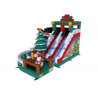 Wholesale 0.55PVC inflatable dry slid 5×8Meter Christmas inflatable slide commercial inflatable slide from china suppliers