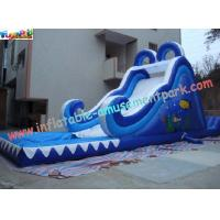 Residential, Commercial grade 0.55mm PVC tarpaulin Outdoor Inflatable Water Slides