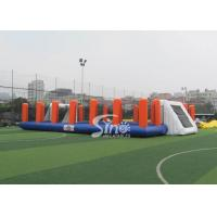 Wholesale Green Soap Inflatable Football Pitch Hire Kids N Adults Outdoor Football Training Sport from china suppliers