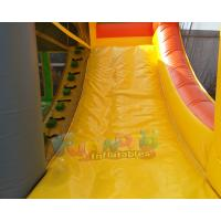 Quality SGS TUV Inflatable Bouncer Slide / Blow Up Trampoline With Slide Jumping Bouncer for sale