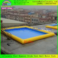 Wholesale High Quality PVC Above Ground Removeable Square Adult Kids Inflatable Swimming Pools from china suppliers