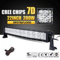 Wholesale Super Bright Row 3W Cree Off Road Led Light Bar 7D Reflector With Dayrunning Light IP68 Waterproof from china suppliers