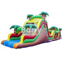 China Jungle Inflatable Obstacles Courses / Obstacle Course Jumpers With Slide on sale