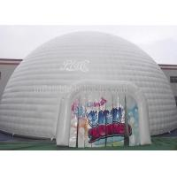 Wholesale White Huge Inflatable Event Tent , Double Stitching Waterproof Inflatable Igloo Tent from china suppliers