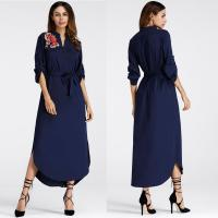 Wholesale Mexican Embroidered Side Split Belt Dress from china suppliers