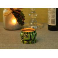 Eco Friendly Tin Candle Holders Anti Thermal Candle Wax Shock Resistant