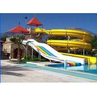 Wholesale High Speed Stimulation Fiberglass Water Parks , Holiday Resort Water Games Structure from china suppliers