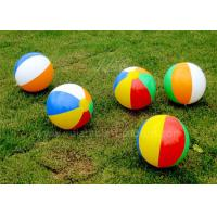 Wholesale Commercial 30cm Small Inflatable Beach Ball Colorful PVC Offset Printing from china suppliers