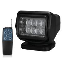 Wholesale 4000 Lumens Waterproof LED Search Light Rotating Remote Control 12v / 24v from china suppliers
