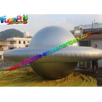 Custom Grey Inflatable Helium Saucer Balloon / Adertising  UFO With LED Lighting Decoration