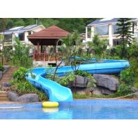 Wholesale 2.2M High Blue Fiberglass Kids Water Slides With Left Or Right Turn from china suppliers