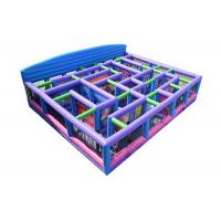 Wholesale Durable 0.55mm PVC Inflatable Sports Games Funny Maze With Blower For 10 - 12 People from china suppliers
