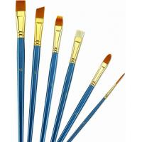 Wholesale Wooden Handle Golden Synthetic Paint Brush Sets , Interlocked Fine Bristle Paint Brushes from china suppliers