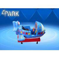 Quality Blue Kiddie Ride Machine Glider Foam Airplane Manual Throwing Fun Challenging for sale