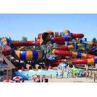 Wholesale Outdoor Giant Water Slide Tantrum Valley Space Bowl Colorful FRP Slide from china suppliers