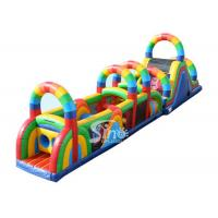 China 21m Long Colorful Children Boot Camp Inflatable Interactive Game Made In Sino Inflatables on sale