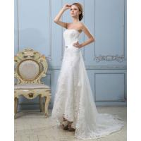 Quality Slim Luxury Lace Strapless Wedding Gowns Heart shaped Sexy wedding dresses for sale