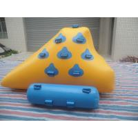 Wholesale Yellow And Light Blue Inflatable Water Games , Small Sealed Inflatable Iceberg from china suppliers