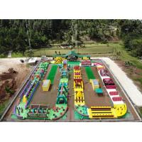 Wholesale 0.9mm PVC Tarpaulin Giant Inflatable Obstacle Course 63.5m L *25m W from china suppliers