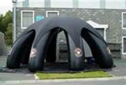 Black Inflatable stage cover with durable material Tent for rent, re-sale, commercial use