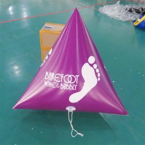 China Panton Purple Color Dive Flag & Inflatable Buoys For Lake , River on sale