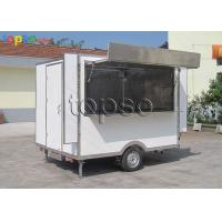 Stable Snack Mobile Cooking Trailer Non - Slip Flooring For Tourism Spots