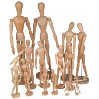 Wholesale Full Size Wooden Human Mannequin / Figure , Wooden Drawing Doll For School from china suppliers