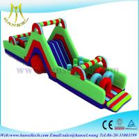 Wholesale Hansel china cheap inflatable obstacle course slide combos kids inflatable adventure from china suppliers