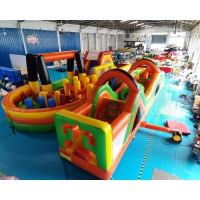 Wholesale ODM 1000D Inflatables Obstacle Course Kids Bounce House Slide from china suppliers