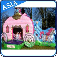 China Inflatable Royal Carriage Moonwalk Bouncer For Children Party Hire Games on sale
