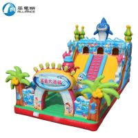 Waterproof Inflatable Shark Slide Inflatable Jumping Bouncer Castle