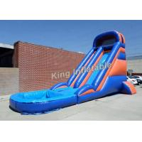 China 20 Feet Huge Inflatable Water Slide With Constant Blowing System on sale