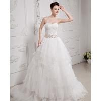 Quality Sweetheart Neckline layered Mesh Wedding Dresses Gowns , 30cm / 60cm / 100cm for sale