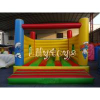 China yellow air bouncer inflatable trampolin For children outdoor Park on sale