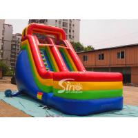 China Colorful Outdoor Kids Biservice Wet N dry Commercial Inflatable Slides For commercial used on sale