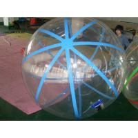 Wholesale 1.0mm PVC Transparent Walk On Water Inflatable Ball With Blue Strings from china suppliers