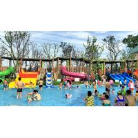 Wholesale 4 Line 6 Meter Height Kid Water Slides Water Park Fiberglass Yellow Water Slides from china suppliers