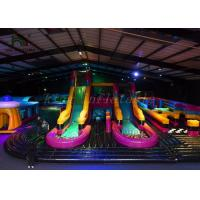 Customized Size Inflatable Amusement Park For Kids Anti - Ruptured