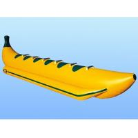 China Yellow Inflatable Boat Toys 6 Person Towable Banana Water Game Tube on sale