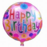 Wholesale Birthday Foil Balloon, Measures 18 Inches, Customized Sizes are Accepted from china suppliers