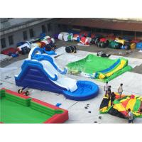 Wholesale Commercial Giant Pvc Tarpaulin Inflatable Water Slides With Pool Customized from china suppliers