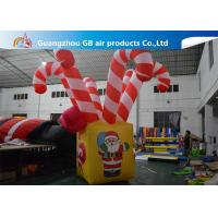 Giant Colorful Inflatable Christmas Stick / Inflatable Candy Cane Stick / Inflatable Walking Stick