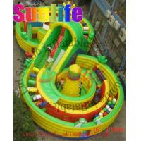Wholesale Big 8 Shape Commercial Inflatable Slide For Kids With Fun And Repair Kits from china suppliers
