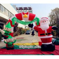 Wholesale Outdoor Decorative Advertising Christmas Inflatable Santa Arch for Entrance Decoration from china suppliers