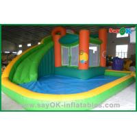 China Commercial Inflatable Bounce House With Water Slide , Air Blown Inflatables on sale